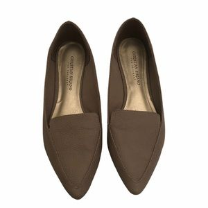 Christian Siriano nude beige flat loafer size 8.5